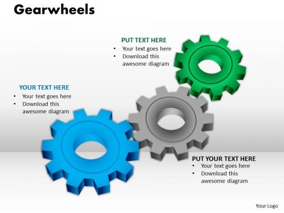Strategy Diagram Gearwheels Marketing Diagram