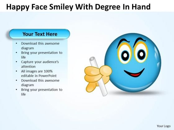 Strategy Diagram Happy Face Smiley With Degree Hand Strategic Management