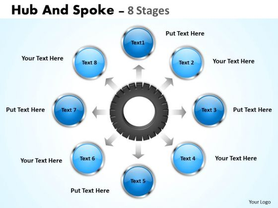 Strategy Diagram Hub And Spoke 8 Stages Consulting Diagram