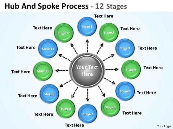Strategy Diagram Hub And Spoke Process Sales Diagram