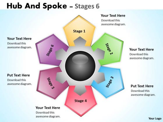 Strategy Diagram Hub And Spoke Stages Consulting Diagram