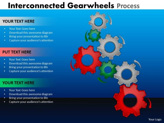 Strategy Diagram Interconnected Gearwheels Process Business Framework Model