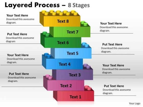 Strategy Diagram Layered Process Eight Steps Diagram Marketing Diagram
