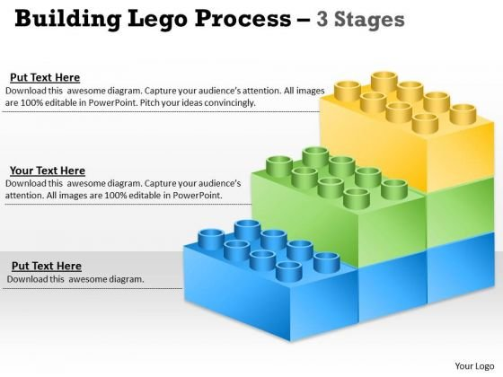 Strategy Diagram Lego Blocks Diagram 3 Stages Strategic Management