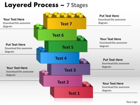 Strategy Diagram Lego Blocks Layered Process 7 Stages Marketing Diagram