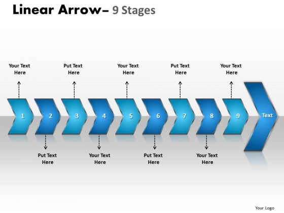 Strategy Diagram Linear Arrow 9 Stages Mba Models And Frameworks