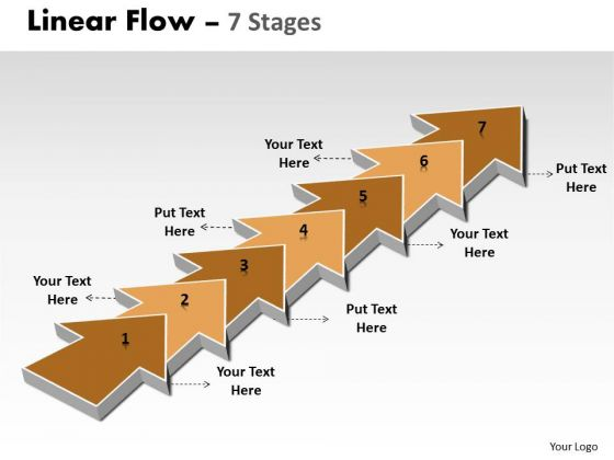 Strategy Diagram Linear Flow 7 Stages Consulting Diagram