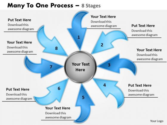 Strategy Diagram Many To One 8 Steps Consulting Diagram