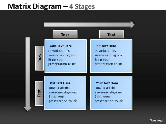 Strategy Diagram Matrix Diagram 4 Stages Business Cycle Diagram