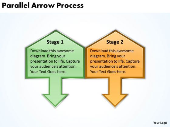 Strategy Diagram Parallel Arrow Process 2 Business Cycle Diagram