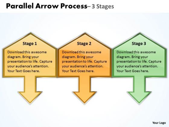 Strategy Diagram Parallel Arrow Process Business Cycle Diagram