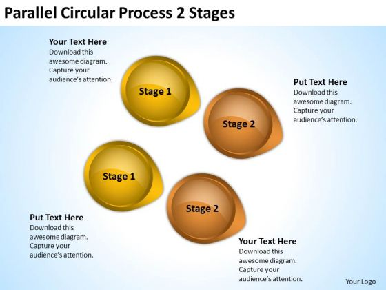 Strategy Diagram Parallel Circular Process 2 Stages Business Cycle Diagram