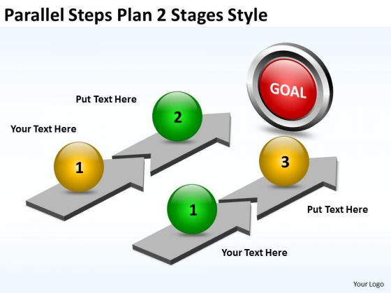 Strategy Diagram Parallel Steps Plan 2 Stages Style Business Cycle Diagram