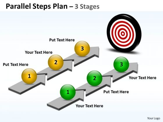 Strategy Diagram Parallel Steps Plan 3 Stages Style Business Cycle Diagram
