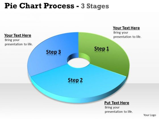 Strategy Diagram Pie Chart 3 Step Business Cycle Diagram