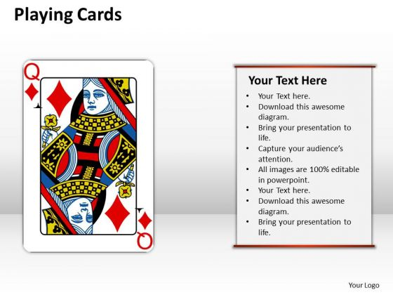 Strategy Diagram Playing Cards Business Framework Model
