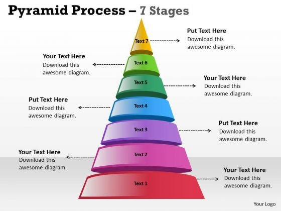 Strategy Diagram Pyramid Process 7 Stages Of Business Marketing Diagram