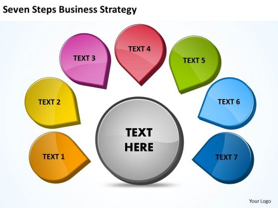 Strategy Diagram Seven Steps Business Strategy Marketing Diagram