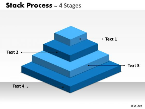 Strategy Diagram Stack Process With 4 Stages Of Business Process Business Diagram