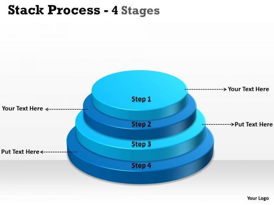 Strategy Diagram Stack Process With 4 Step For Planning Business Diagram