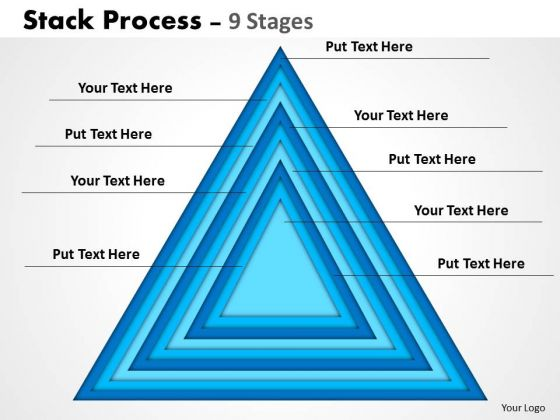 Strategy Diagram Stack Triangle Business Framework Model