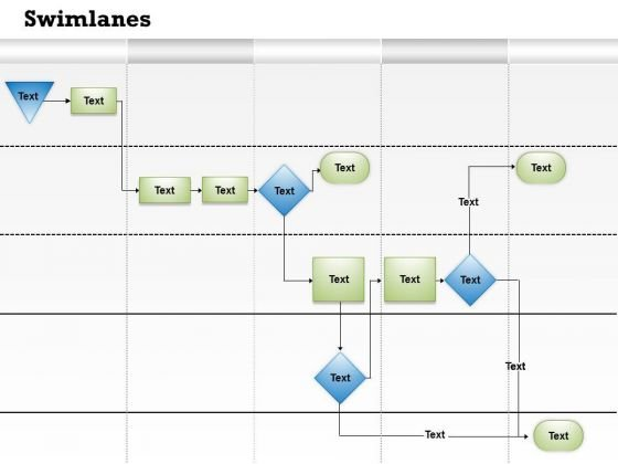 Strategy Diagram Swimlane Information Flow Diagram Consulting Diagram