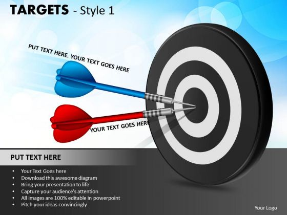 Strategy Diagram Targets Style 1 Sales Diagram