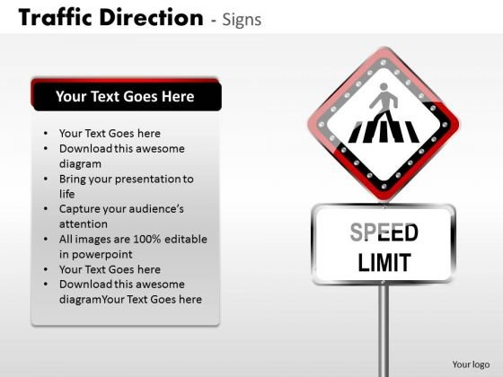 Strategy Diagram Traffic Direction Signs Business Finance Strategy Development