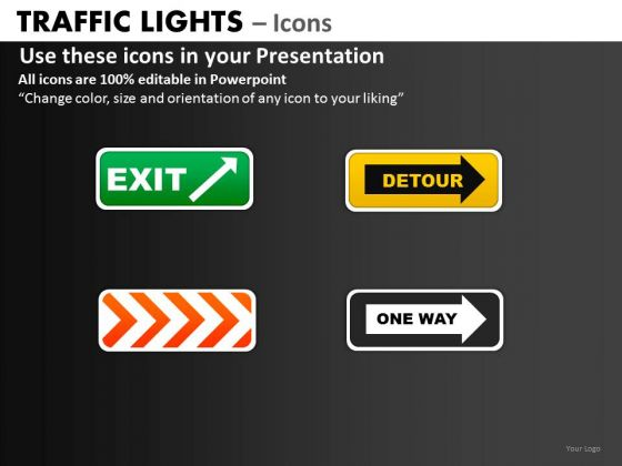 Strategy Diagram Traffic Lights Icons Business Framework Model