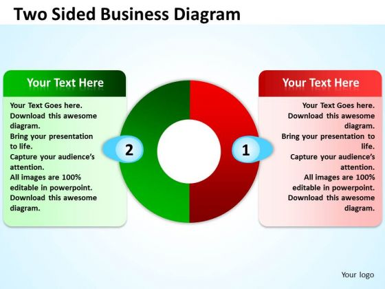 Strategy Diagram Two Sided Business Diagram Business Diagram