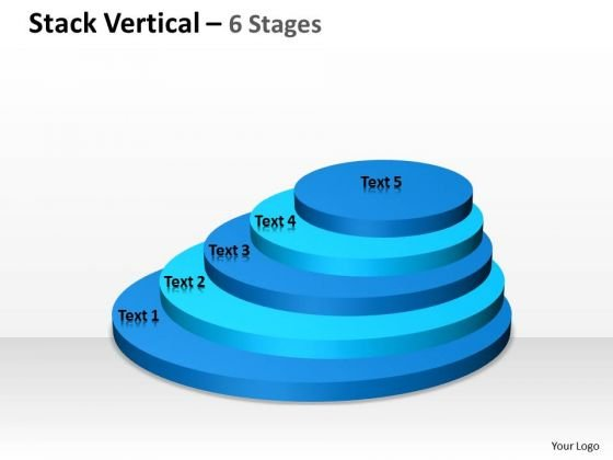 Strategy Diagram Vertical Stack Process With 5 Stages Business Framework Model