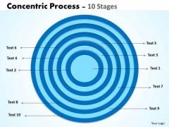 10 Staged Circular Business Diagram