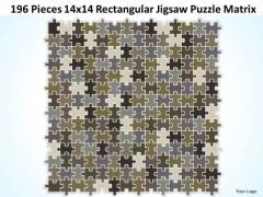 Business Cycle Diagram 196 Pieces 14x14 Rectangular Jigsaw Puzzle Matrix Business Framework Model