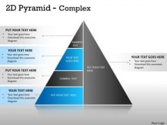 Business Cycle Diagram 2d Pyramid Complex Design With 5 Stages Strategy Diagram