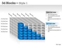 Business Cycle Diagram 3d Blocks Style Sales Diagram
