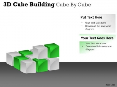 Business Cycle Diagram 3d Cube Building Cube By Cube Marketing Diagram