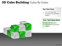 Business Cycle Diagram 3d Cube Building Cube By Cube Sales Diagram
