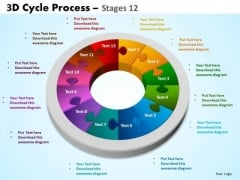 Business Cycle Diagram 3d Cycle Process Flowchart Stages 12 Business Diagram
