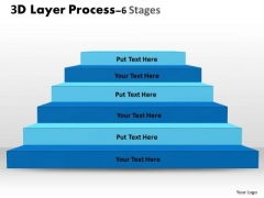 Business Cycle Diagram 3d Layer Process With 6 Stages Sales Diagram