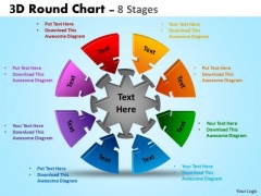 Business Cycle Diagram 3d Round Chart 8 Stages Consulting Diagram