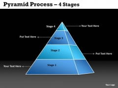 Business Cycle Diagram 4 Staged Process Pyramid Consulting Diagram