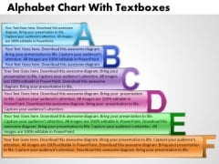 Business Cycle Diagram Alphabet Chart With Textboxes Marketing Diagram