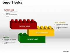 Business Cycle Diagram Building Blocks 3 Stages Business Finance Strategy Development