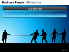 Business Cycle Diagram Business People Silhouettes Business Diagram