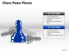 Business Cycle Diagram Chess Pawn Pieces Strategy Diagram