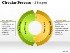 Business Cycle Diagram Circular Process 2 Stages Strategy Diagram