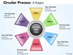 Business Cycle Diagram Circular Process 6 Stages Business Diagram
