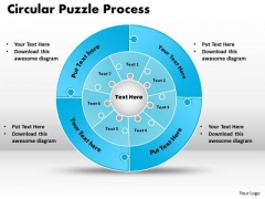 Business Cycle Diagram Circular Puzzle Flowchart Templates Process Diagram Consulting Diagram