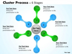 Business Cycle Diagram Cluster Process Diagrams Stages Consulting Diagram