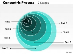Business Cycle Diagram Concentric Sales Process 7 Stages Strategy Diagram